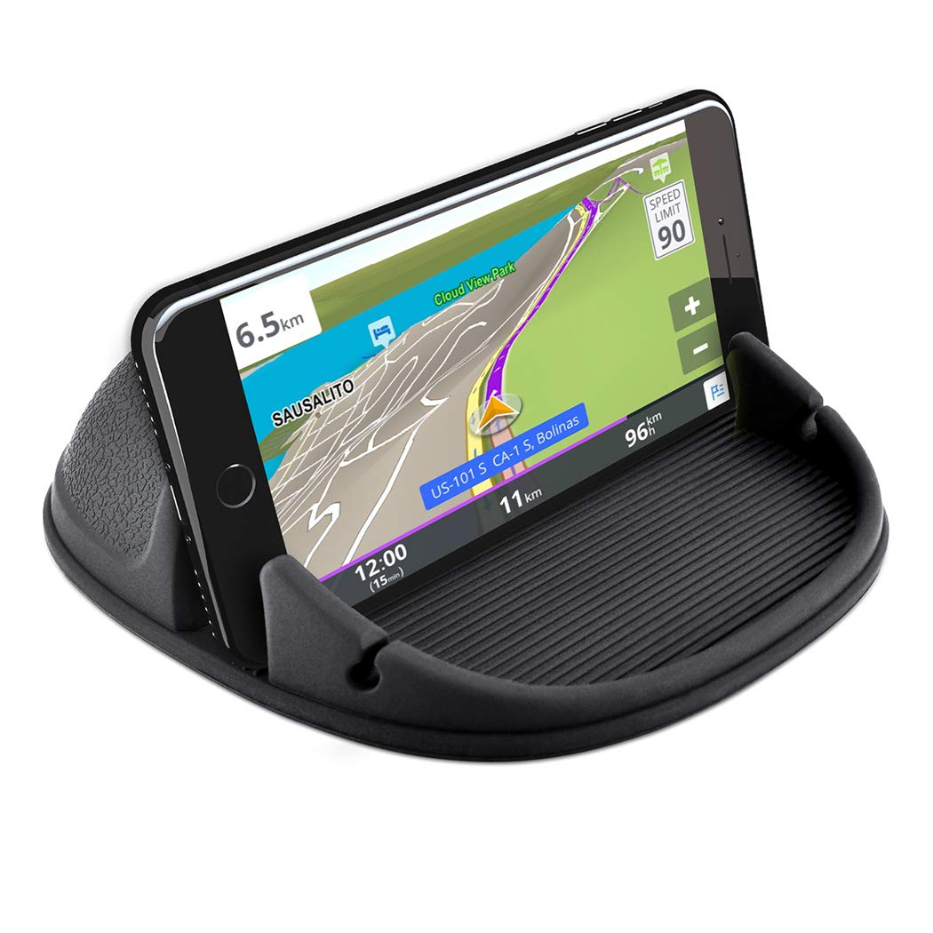 Car Phone Holder, Car Phone Mount Silicone Phone Car Dashboard Car Pad Mat Various Dashboards, Anti-Slip Desk Phone Stand Compatible with iPhone, Samsung, Android Smartphones, GPS, uHk1