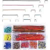 Trsnzul Breadboard Puentes de Alambre Kit 560 Piezas Placa Protoboard Cable de Puente Breadboard Jumper Wire Kit U Forma…