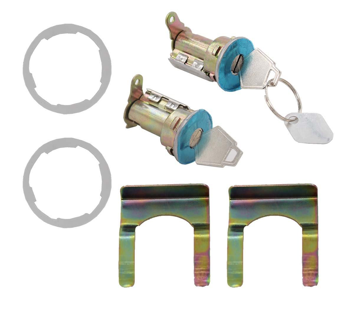 XtremeAmazing Pair Door Lock Cylinder Tumbler Keys Set For Dodge Pickup Van Truck Chrysler