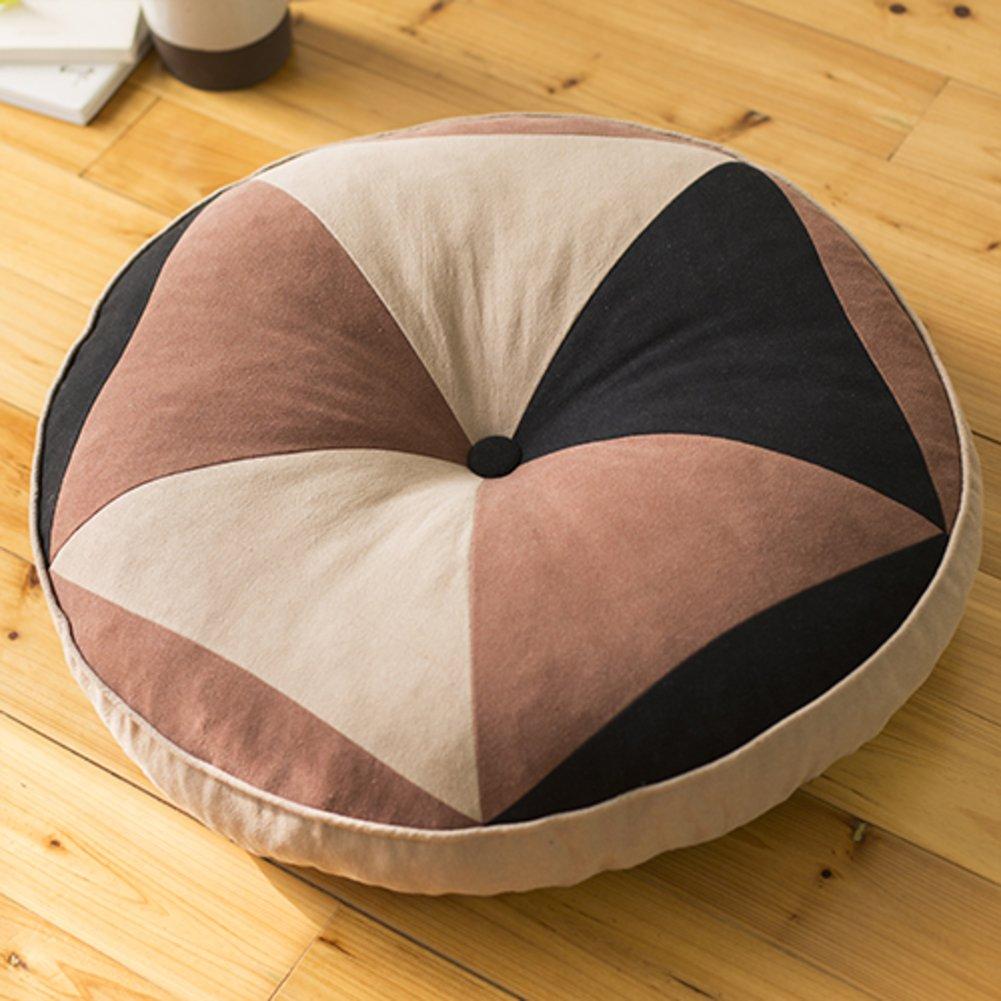 Ropa de algodón redondo construcción mullido cojín para mayor de comodidad y longevidad de entonado de mayor colores de cojín de asiento -C 1f6d4d