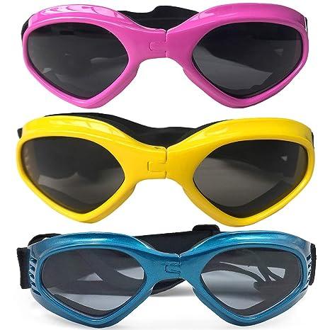 Newhaa Gafas de Sol para Perros Gafas de esquí Plegables ...