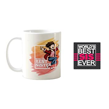 Buy YaYa CafeTM Birthday Gifts For Sister Best Mug Coaster Set Of 2 Rakhi Online At Low Prices In India