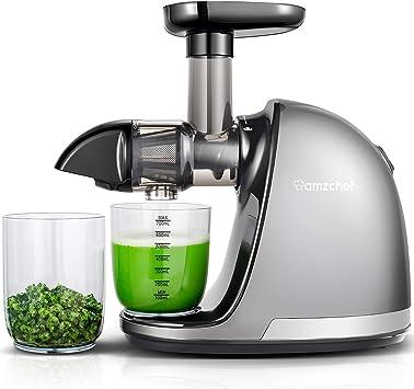 AMZCHEF Slow Juicer BPA frei Entsafter Gemüse und Obst Profi