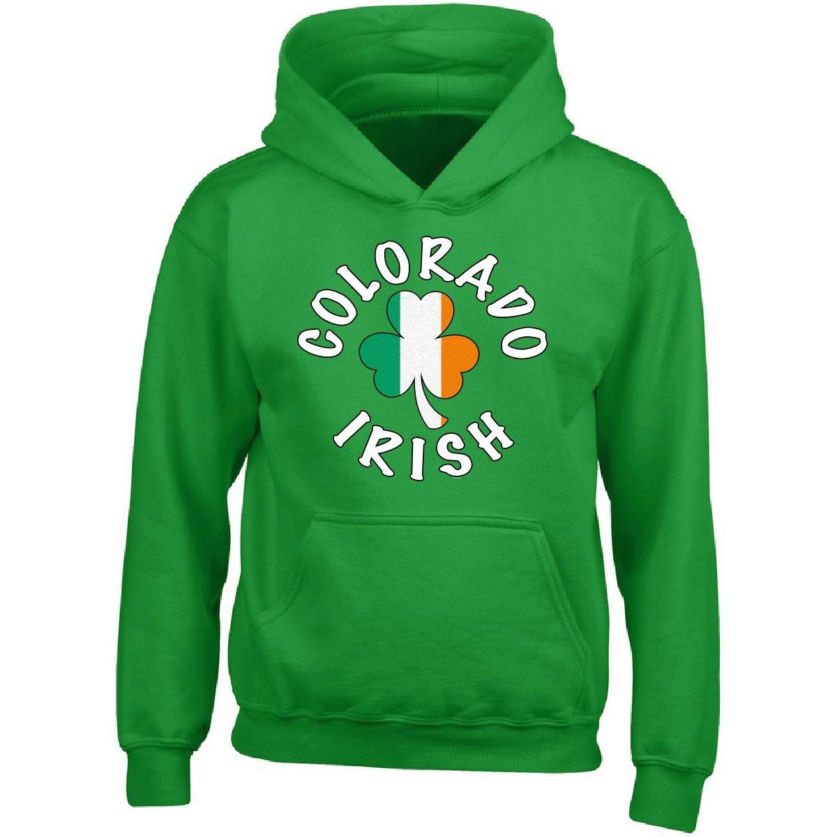 Adult Hoodie BADASS REPUBLIC Colorado Irish Clover ST Patricks Parade Day Gift