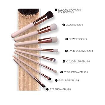 0e74f4551c0a Amazon.com: Professional Makeup Brushes Set Huphoon 8PCS Face Blush ...
