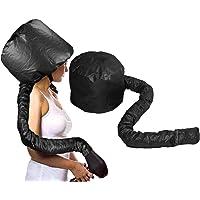MANUKA Capot de Sèche-cheveux, Bonnet Attachement Capuchon Casque Hair Dryer Hood Portable Sécurité Chauffants Traitement Capuchon pour Séchage (Noir)
