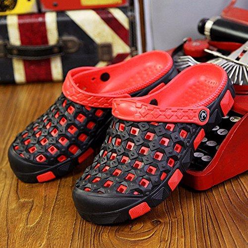 Il nuovo Coppia Tempo libero scarpa Uomini sandali estate mode Buco scarpa Spiaggia sandali ,rosso,US=8,UK=7.5,EU=41 1/3,CN=42