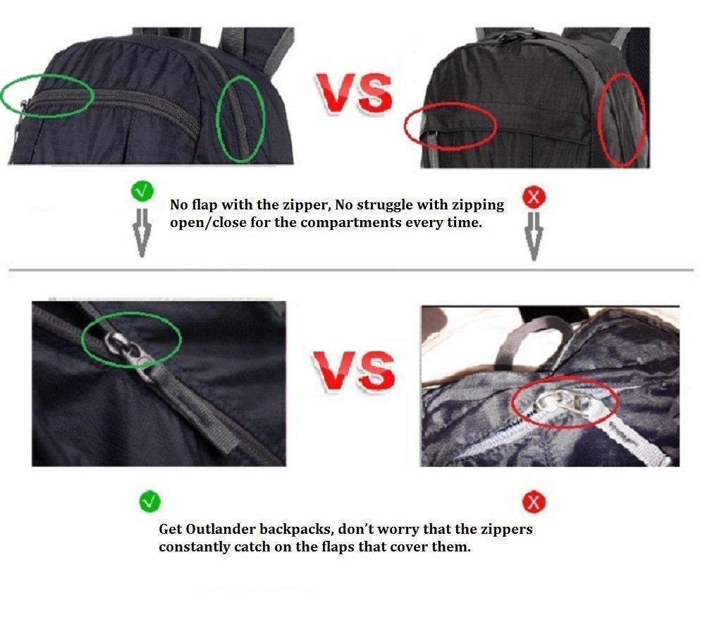 e08dba113259 Outlander Packable Handy Lightweight Travel Hiking Gear Backpack ...