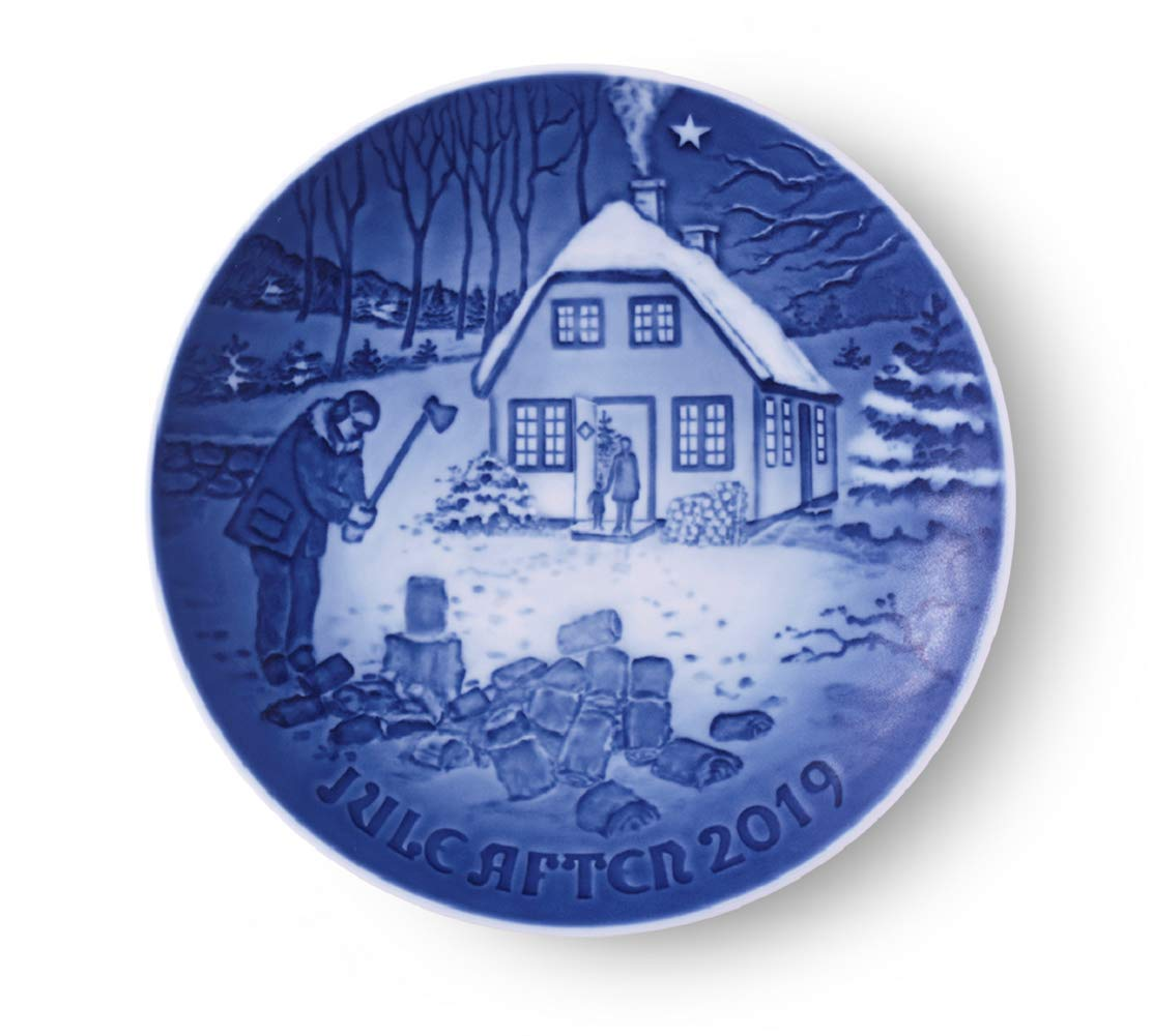 Bing and Grondahl 1027173 Collectible Christ mas Plate 2019, Porcelain, 7'' by Royal Copenhagen