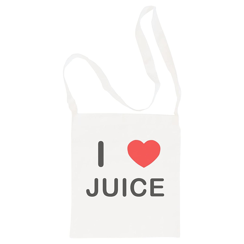 Cotton Long Handle Sling Bag I Love Juice