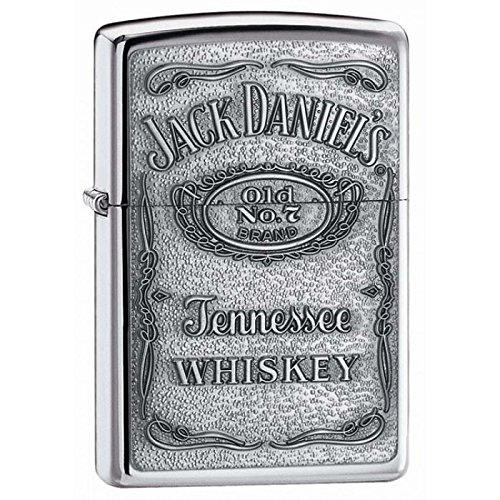 Vintage High Polish Chrome Lighter - Jack Daniel'S High Polish Chrome Zippo Outdoor Indoor Windproof Lighter Free Custom Personalized Engraved Message Permanent Lifetime Engraving on Backside