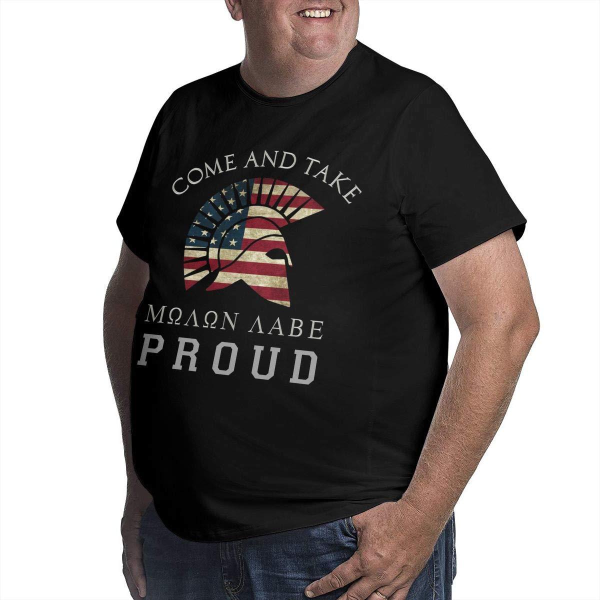 YONGCHOO JR Molon Labe Come and Take American Proud Mens Short Sleeve T-Shirt Big /& Tall Heavyweight T-Shirt