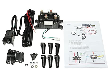 Amazon.com: 12V Solenoid Relay Contactor & Winch Rocker Thumb Switch on sound system wiring diagram, polaris atv wiring diagram, ramps wiring diagram, winch solenoid diagram, 110cc atv wiring diagram, cable wiring diagram, atv horn wiring diagram, atv electrical wiring diagram, switch wiring diagram, 4 post solenoid wiring diagram, braden winch diagram, atv wiring harness diagram, trailers wiring diagram, warn winch diagram, solenoid switch diagram, car lifts wiring diagram, taotao atv wiring diagram, atv lights wiring diagram, polaris ignition wiring diagram, atv winch relay,