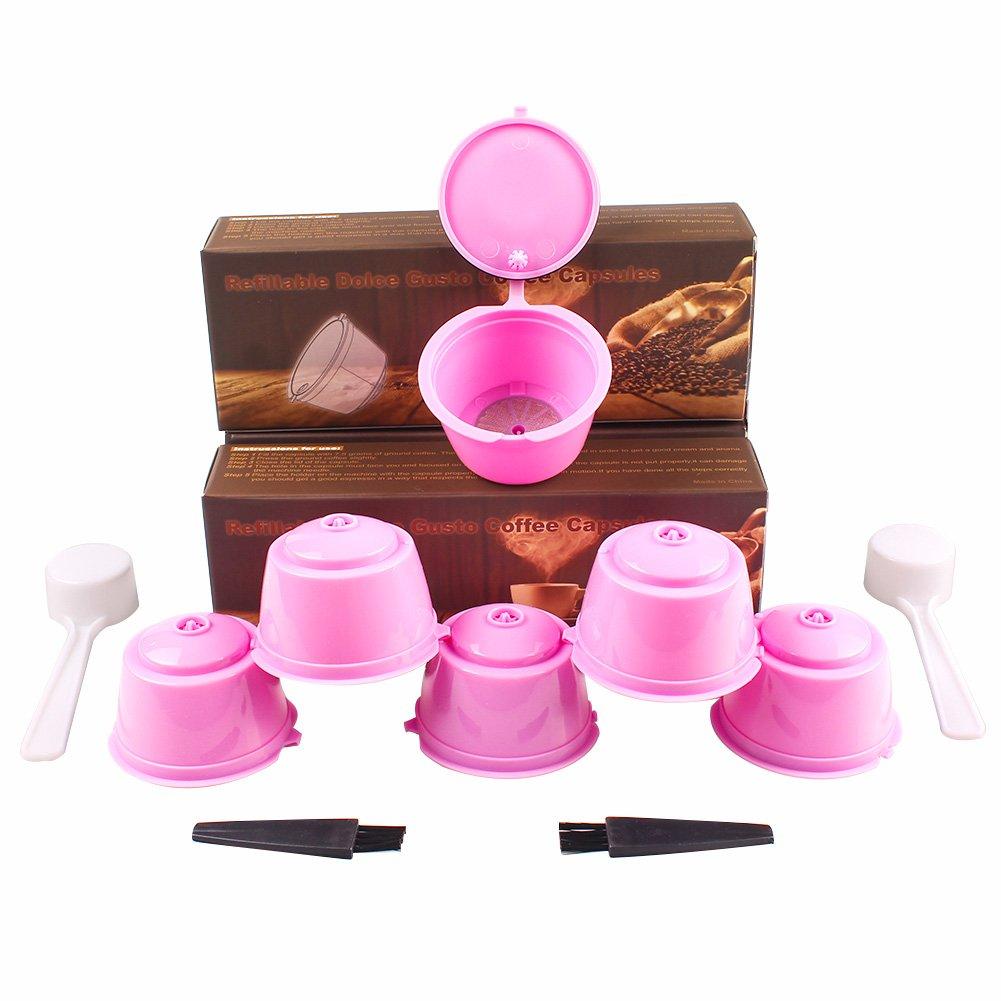 Soleebee 6 piezas Cápsulas de Café Reutilizables Filtros Cápsulas ...