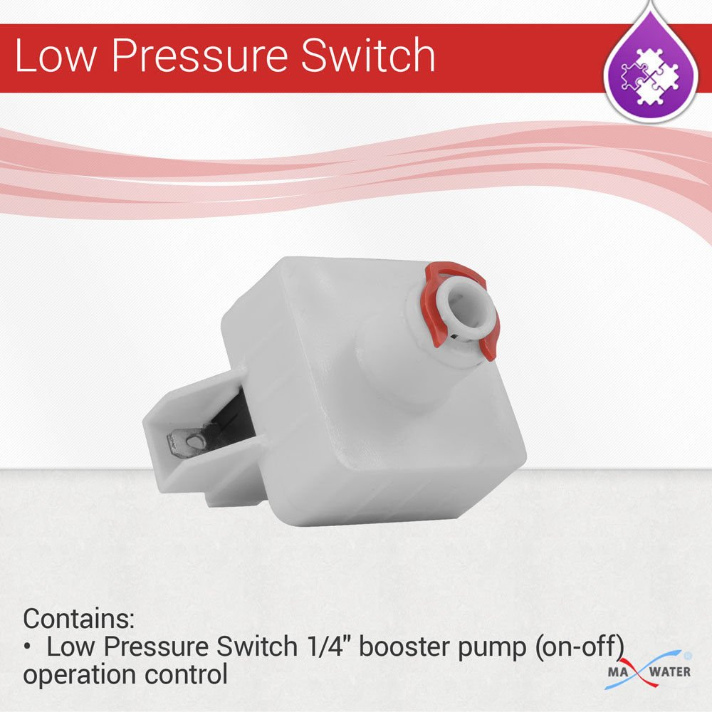 Reverse Osmosis Low Pressure Switch 1/4'' booster pump (on-off) operation control