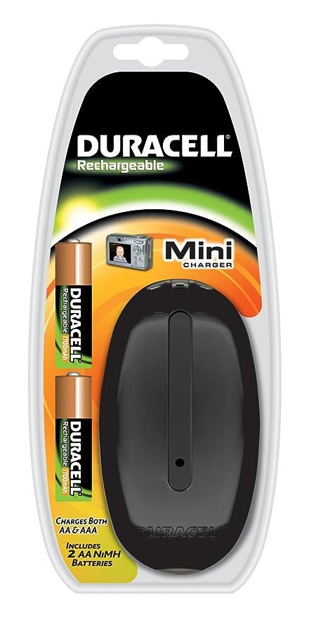 Duracell Mini Charger CEF20 - Cargador (AA, AAA, Negro, NiMH ...