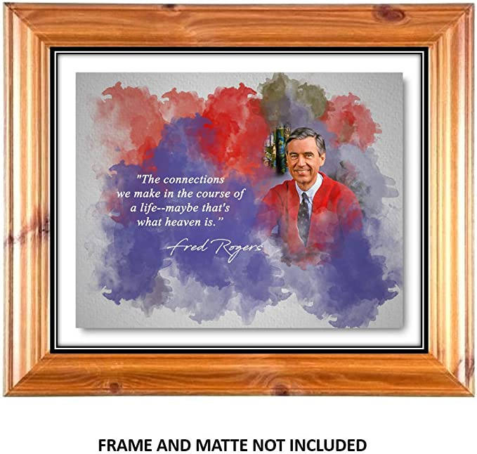 Amazon Com Ramini Brands Fred Rogers Heaven Is Inspirational Quote 8 X 10 Unframed Print Wall Art For Bedrooms Offices Living Rooms Posters Prints