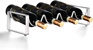 1, 2 or 3 Tiers Stack able Wine Rack ~ Counter top Wine Holder ~ Cabinet Storage ~ Metal Wine Stand (White Finish, 1 Tier)