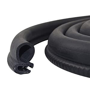Car Door Rubber Seal Strip Trim Seal with Side Bulb for Cars, Boats, RVs, Trucks, and Home Applications, Car Weather Striping (20Ft)