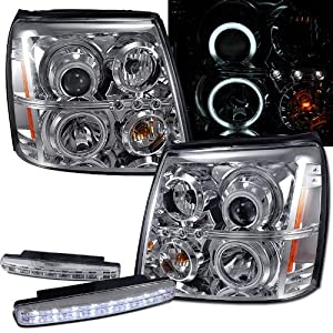led halo headlight wiring diagram amazon com 2004 cadillac escalade ccfl    halo    projector  amazon com 2004 cadillac escalade ccfl    halo    projector