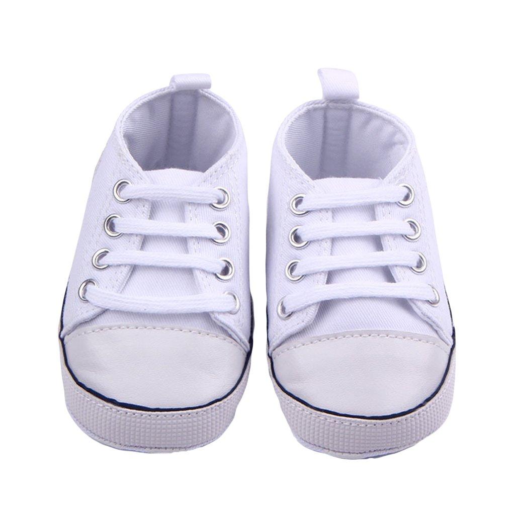 WAYLONGPLUS Infant Cute Canvas Sneaker Toddler Prewalker Anti-skid Soft Trainer Shoes Blue, Size 11
