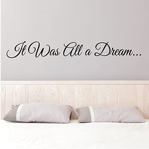 It was all a dream 0148 wall decals wall stickers living