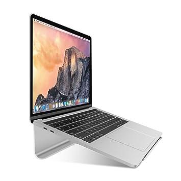 WEYO Soporte Ordenador portátil; Soporte de Radiador de Aluminio (con Silicona Antideslizante Compatible con Apple MacBook, iPad, Laptop, UltraBook 11 - 17 ...