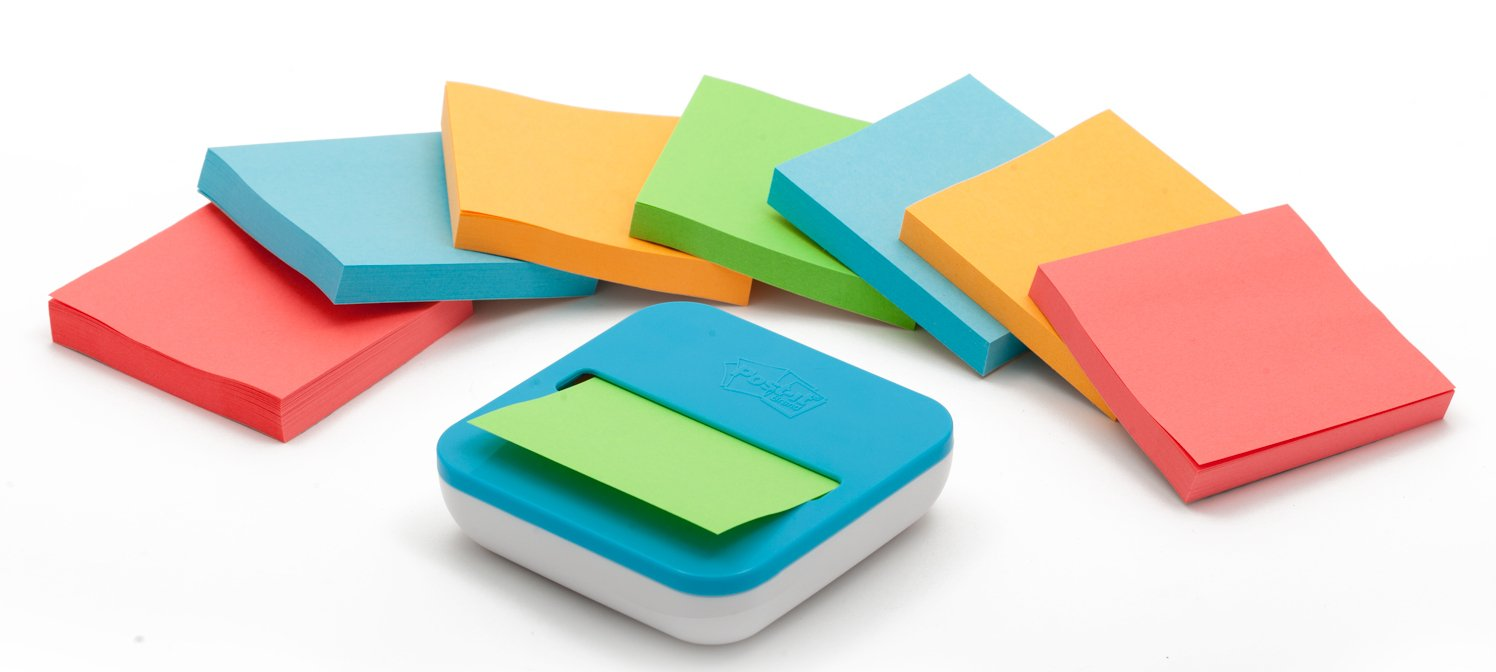 Post-it 76 x 76 mm''Z-Note'' Dispenser with Colour Pad
