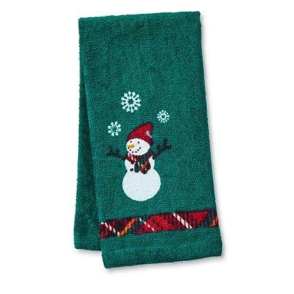Cañón invierno toalla de punta, muñeco de nieve, 17 L x 11 W.