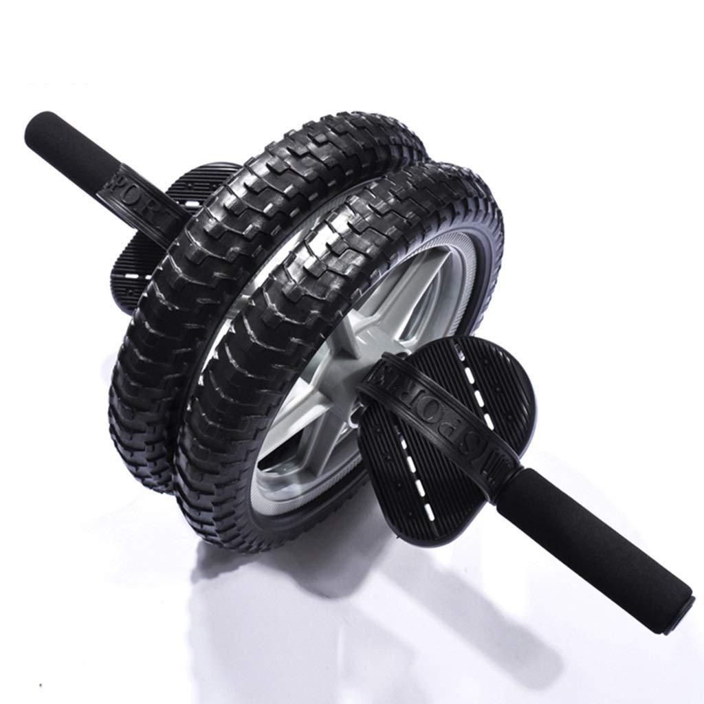 腹部運動ローラー腹部ホイール二重目的の多機能エネルギーホイール腹筋トレーニング装置二輪運動腹部筋ローラー (Color : Black, Size : 54 * 28 * 28cm) B07HP7NGXW  Black 54*28*28cm