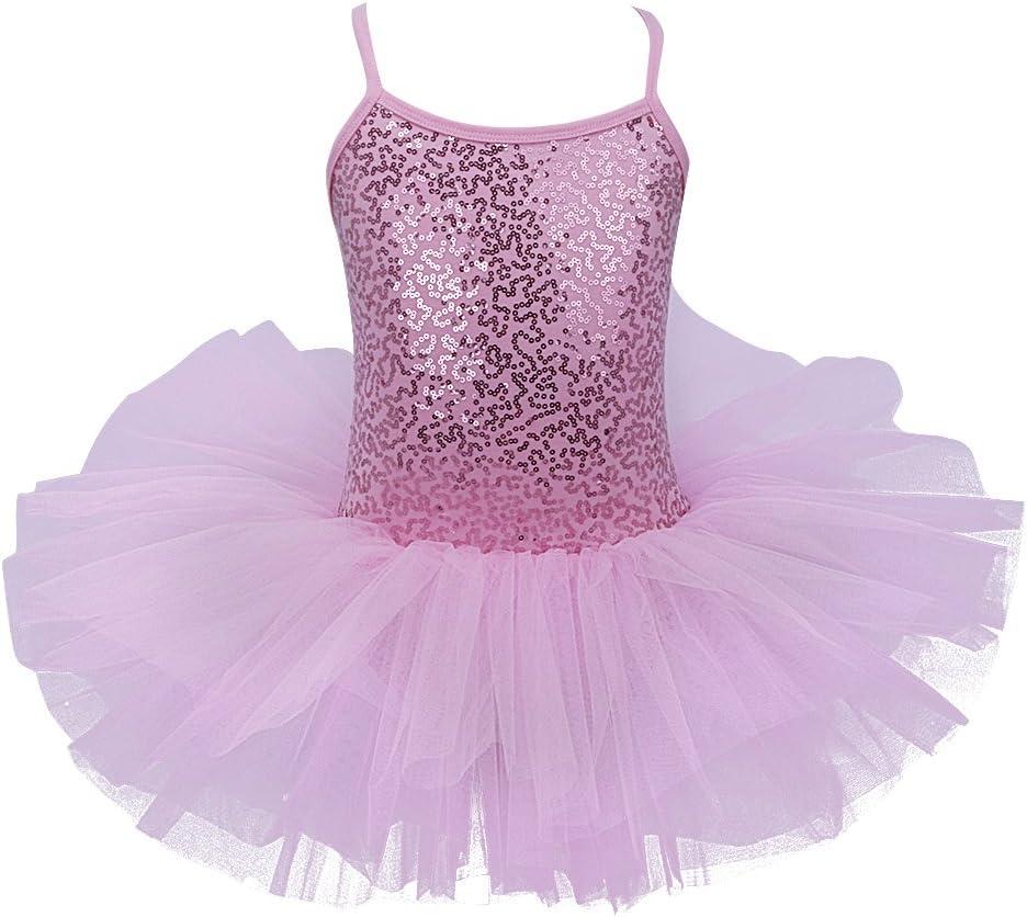 Girls Skirted Dance Leotards for Ballet Tutu Dress Classic Ballerina Outfit