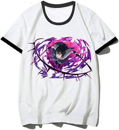 TSHIMEN Camisetas Hombre Coches Naruto Camiseta de Anime para Hombres/Mujeres Camiseta de Dibujos Animados de Moda de Verano Camiseta Informal Camisetas Divertidas Top m Blanco: Amazon.es: Ropa y accesorios