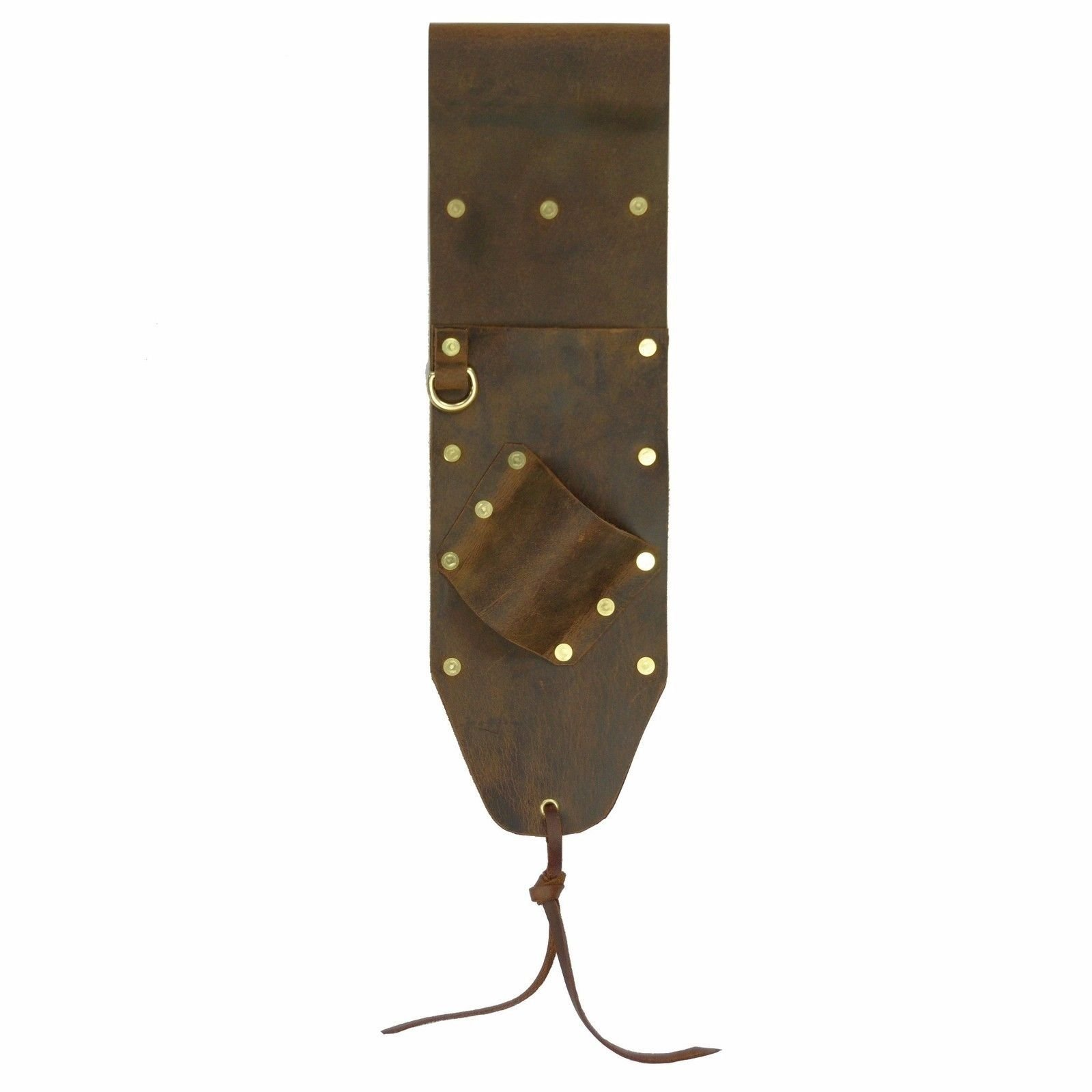 Brown Leather Sheath for PinPointer and Digging Tool Right Sided by Leather Barn