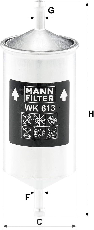 Originale MANN-FILTER Filtro Carburante WK 613 Per Automobili