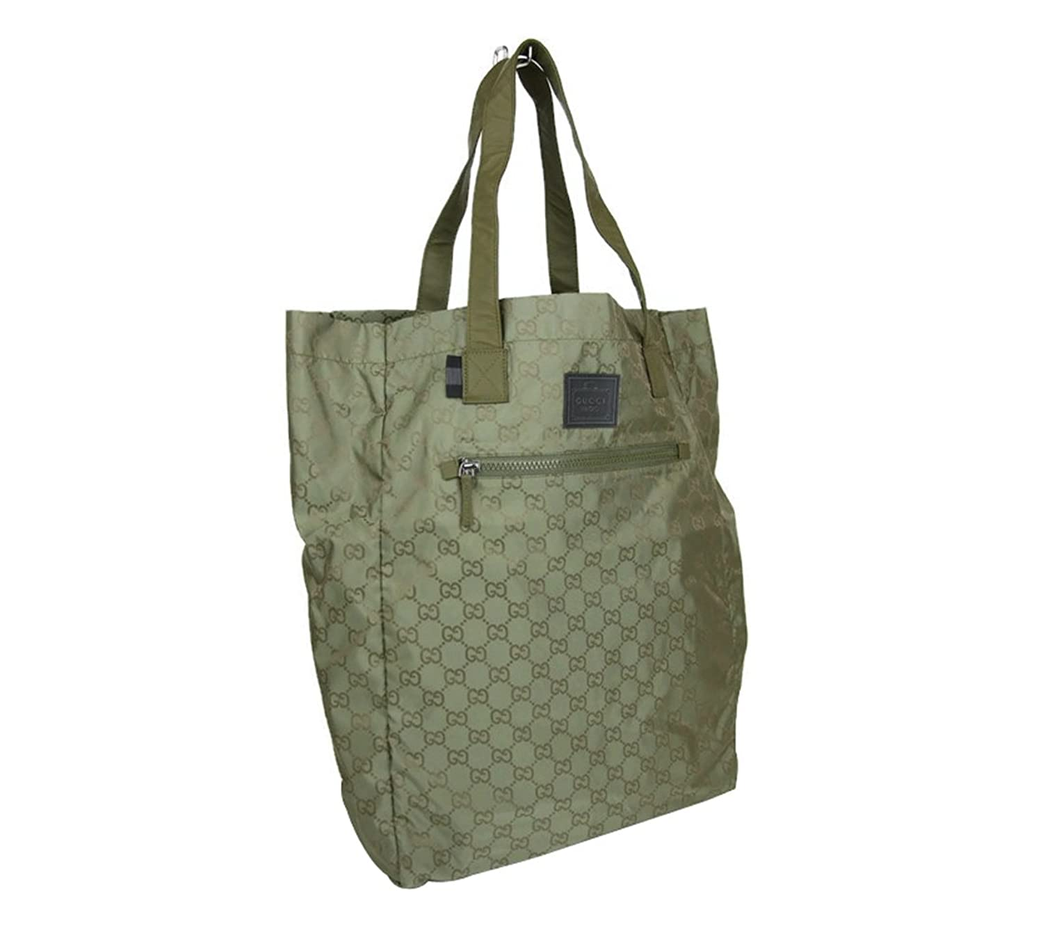 156bc3e5795c7 Amazon.com  Gucci Guccissima Nylon Handbag Viaggio Collection Tote Bag  308877 (Green 3362)  Shoes