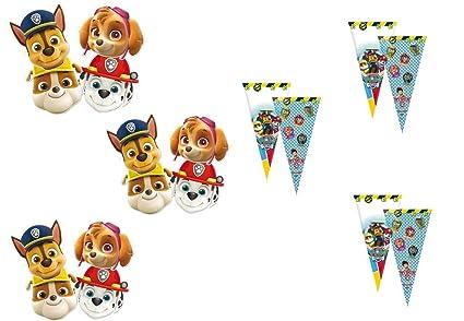 Patrulla Canina ALMACENESADAN, 0617, Pack 12 mascaras, 12 ...