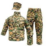 Kids USMC 3 pc Woodland Camo United States Marine Corps Uniform (Medium 10-12)