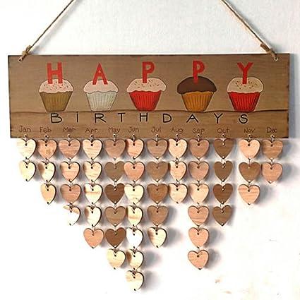 Amazon Com Weishenghuo Family Birthday Board Calendar Sign Plaque