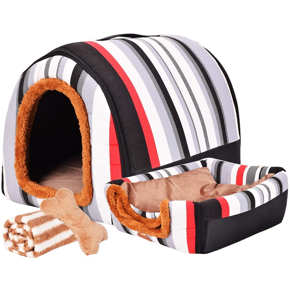 A XXXL A XXXL Pet Bed pet Bed Pet Bed Large Dog Doghouse Winter Keep Warm Washable Four Seasons Dog Kennel Indoor Doghouse 6 colors 3 Size Optional (color   A, Size   XXXL) (color   A, Size   XXXL)