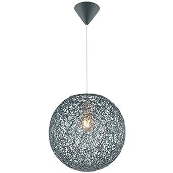 Design Pendel Lampe rund Ess Zimmer Tisch Beleuchtung weiß Hänge Leuchte klar