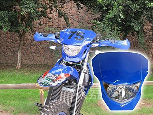 Honda Enduro Bikes - 35W Blue Off Road Dirt Bike Enduro MX Supermoto Headlight For Suzuki RM RMX RMZ Honda CRF50F CRF Kawasaki KX LKX Yamaha YZ TTR WR XT