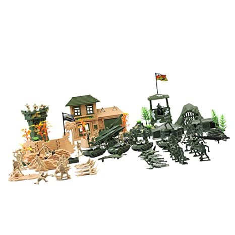 Amazon com: Fityle 130pcs Force Battle Group Army Men Play