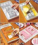 Anokay Teglia Rettangolare / Tortiera con 12 Scatoline Rimovibili per Fare Torte in Qualsiasi Numero e Lettera / Composizione Tipografica Libera - Fai da Te