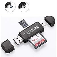 SD Kartenleser USB 2.0 Micro USB OTG Kartenlesegerät Adapter für Samsung, Huawei, Android Smartphone, MacBook und PC Laptop (SD01)