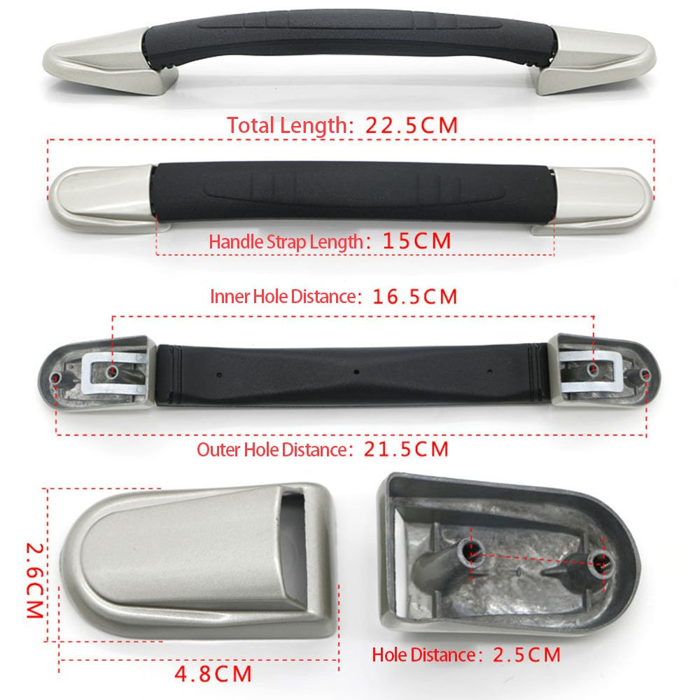 BQLZR Suitcase bagages Coque poign/ée 15/cm de notebook Sangle de transport Poign/ée grip de remplacement