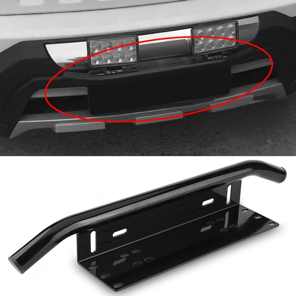 Candybarbar License Number Plate Frame Holder Light Bar Mount Front Bumper For Offroad Truck Vehicle Plate Bracket Easy Installation