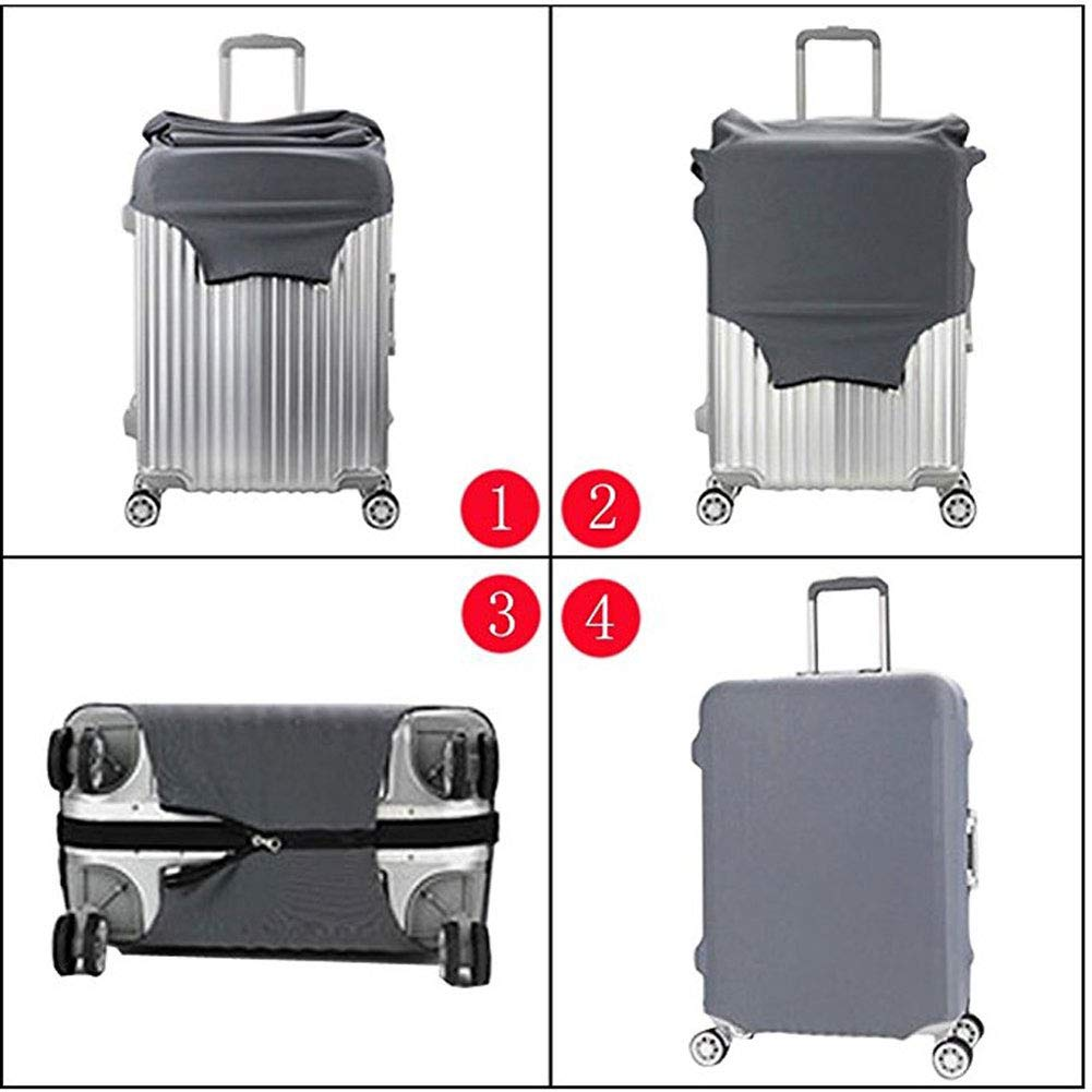 Hbwz Washable Spandex Luggage Bag Suitcase Dust Cover Protector Fits 18-32in,C,XL