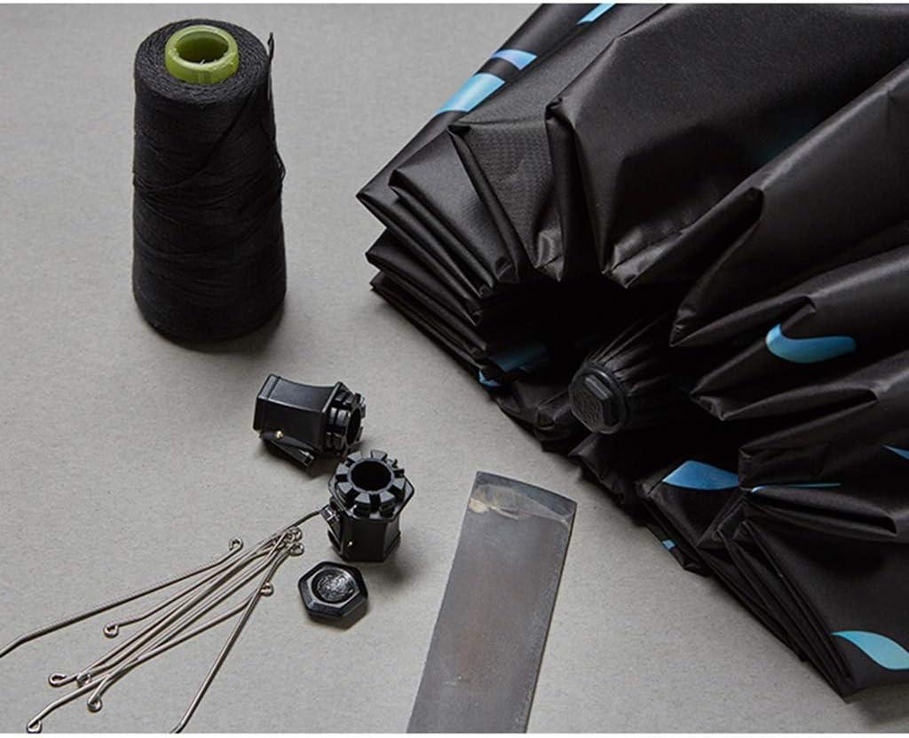 Sunshade Sun Protection UV Double Umbrella Dual-use 16 Bone Umbrella Windproof Folding Umbrella Blue