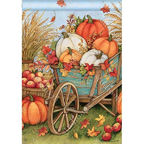 (Pumpkin Wagon BreezeArt House flag 90111)