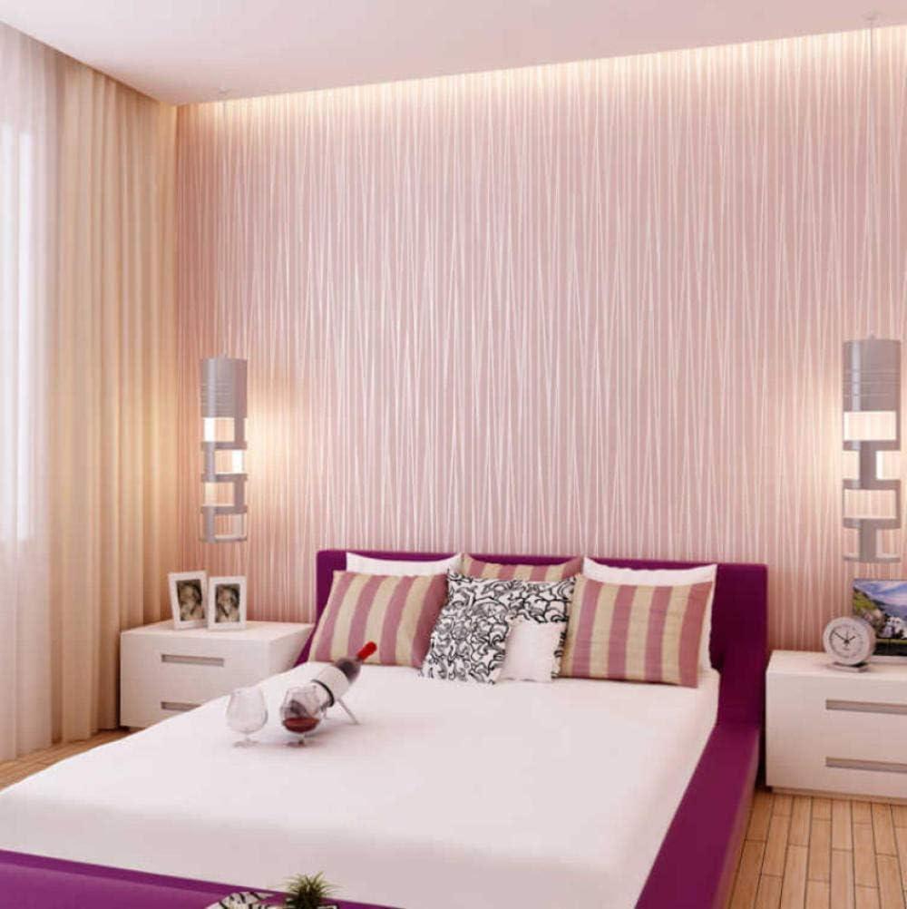 Papel Pintado Papel Pintado Rosa Chicas Dormitorio Papel De Pared Rollo Flocado Textura En Relieve Rayas Modernas De Lujo